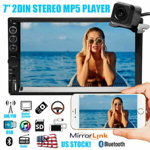 Double Din 7 Car Stereo Mp5 Bluetooth Radio Usb Fit Ford F 150 Explorer Mustang