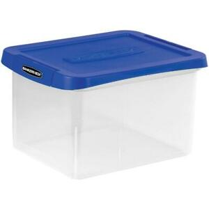 Fellowes Heavy duty File Box 1 Each Clear blue