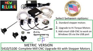 Sherline Pn 6711 metric 5410 5100 Mill Cnc Upgrade Kit With Stepper Motors
