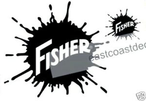 2 Pc Large Fisher Snow Plow Decal Kit fb1 1 New Large Blade Sticker 1 Mini