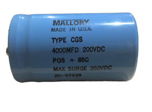 4000uf 200v Large Can Electrolytic Capacitor 200 Volts 4000mfd 200vdc 4 000