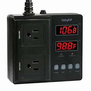 Bayite Temperature Controller 1650w Btc211 Digital Outlet Thermostat Pre wire
