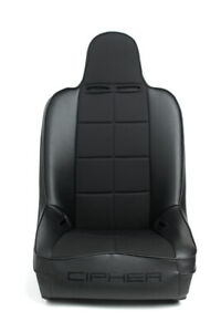 Cipher Auto Suspension Seat black Leather W Fabric Insert Fixed Back Single