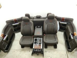 2015 2017 Ford F150 King Ranch Interior Set Front Rear Seat Console Java Brown