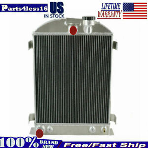 4 Rows Aluminum Radiator For 1928 1929 1930 1931 Ford Grill Shells Model A New