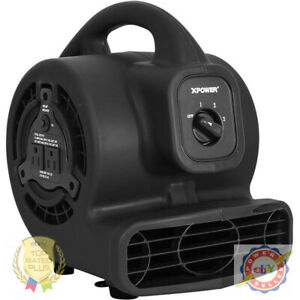Xpower P 80a Black 3 speed Air Mover With Gfci Power Outlets 600 Cfm 115v