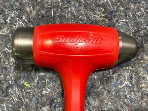 Snap On Tools Hbbd40 40 Oz Ball Peen Soft Grip Dead Blow Hammer Red Usa