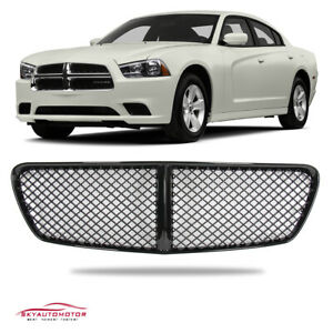 Fit For 2011 2014 Dodge Charger Front Hood Grille Honeycomb Mesh Gloss Black