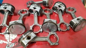 Ls 6 0l Pistons On Gen 4 Rods Used Excellent Condition Std Bore Set Of 8