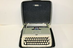 Smith Corona Galaxie Manual Typewriter With Case Tested And Working