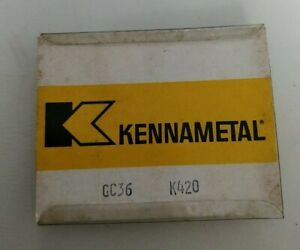 4 Kennametal Gc 36 K420 Carbide Grooving Inserts