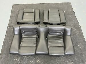 2010 2014 Mustang Black Leather Rear Seats