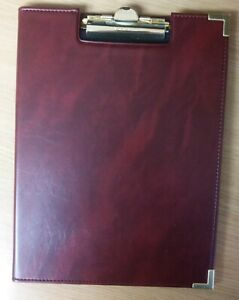 Deluxe Letter Size Clipboard Pad Holder Burgundy Padfolio By Sparco Brand New