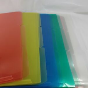 File Folders Legal Size Plastic Pocket With 1 3 Cut Tab Pack Of 30 Multi Color