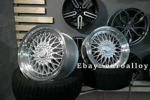 New 4x 18 Inch 5x112 Et35 Bbs Rs Style Rims For Mercedes Audi Vw Old School