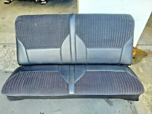 68 69 Chevelle Gto Cutlass 442 Lemans Rear Seat Upholstery Black Coupe A Body