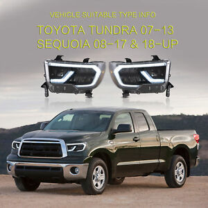 Led Sequential Headlight Projectorfor Tundra 2007 2013 Sequoia 2008 2017 2018 up
