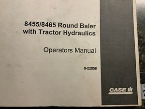 Case 8455 8465 Round Baler With Tractor Hydraulics Operator s Manual