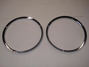1967 1968 1969 70 Ford Mustang Quality Chrome Headlight Lamp Door Trim Rings