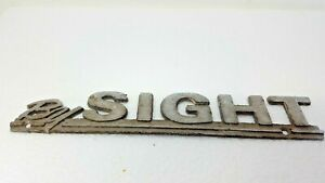 Vintage By Sight Car Dealership Metal Emblem Advertising Logo