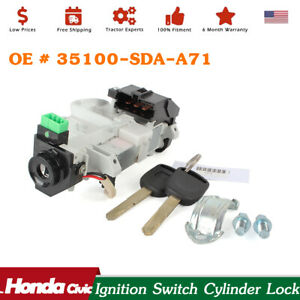 Fit For 2003 07 Honda Accord W 2 Keys Ignition Switch Cylinder Lock Auto Trans