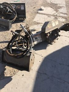 Used Quick Attach Mini Stump Grinder Full Motion With Green Teeth