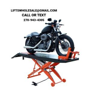 New Titan 1 000 Lbs Motorcycle Lift With Front Wheel Vise And Front Extensions