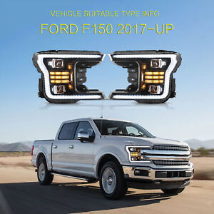 Led Sequential Headlight Corner Lamps For 2018 2019 2020 Ford F 150 Left Right