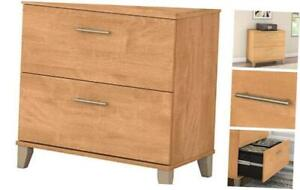 2 Drawer Lateral File Cabinet Maple Cross Maple Cross