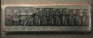 Snap On Tools 212ipfm 3 8 Drive 12 Piece Shallow Impact Swivel Socket Set