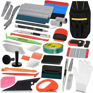 Usa Vinyl Squeegee Kit Car Wrap Application Tools Window Tint Film Installation