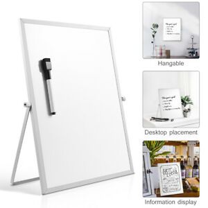 Double Sided Magnetic Dry Erase Board Desktop White Board With Stand Gifts Us