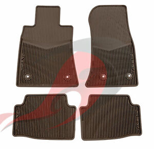 2013 2019 Cadillac Ats Front Rear All Weather Floor Mats Brownstone 22927633