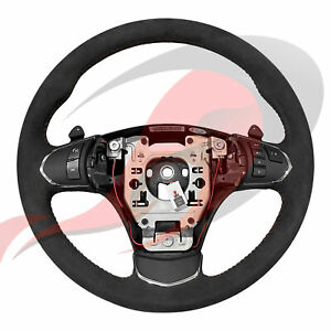 2005 2013 C6 Corvette Genuine Gm Automatic Suede Steering Wheel Red Stitching