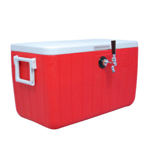 New Jockey Box Cooler For Beer 1 Faucet 5 16 X 120 Stainless Coils 48qt