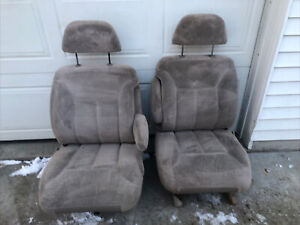 1995 98 Chevy Gmc Silverado 1500 Sierra Suburban Tahoe Tan Buckets Power Seats