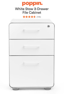 Poppin 3 Drawer File Cabinet Legal letter barely Used 249 Retail 10 Available