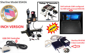 Sherline 8540a 12 Mill Cnc System Package a Cnc Controller Laptop inch