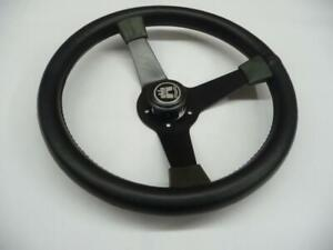 1950 1979 Volkswagen Beetle Wa 120 3 spoke Black Leather Steering Wheel Brazil