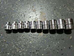 Snap On 10 Of 12 Piece 3 8 Metric 6 Pt Shallow Socket Set Fsm