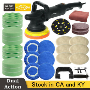 6 Dual Action Car Polisher Buffer Sander Variable Speed Wax Tool Polishing Kit