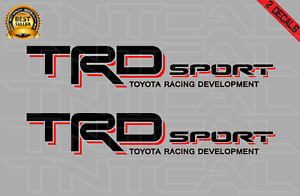 Toyota Trd Sport Decal Set 2006 2011 Tacoma Tundra Truck Vinyl Sticker Black red