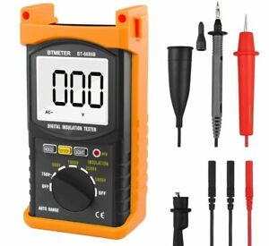 Digital Insulation Resistance Tester 5000v Voltage 200g Ohmmeter Test Bt 6688b