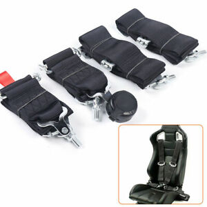 3inch Black 4 Point Camlock Quick Release Racing Seat Belt Harness Quick Release