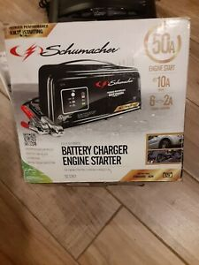 Schumacher Sc1361 Automatic Car Battery Charger Steel 2 10 50 Amp 12v New