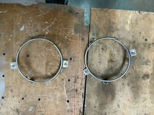 1970 Dodge Coronet Headlight Trim Rings For 70 Blockoffs Plastic R T 500 Special