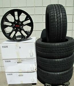 22 New Gmc Yukon Sierra Factory Style Black Wheels With Tires 5903