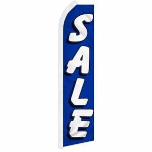 sale Advertising Super Flag Swooper Banner Business Sign b w