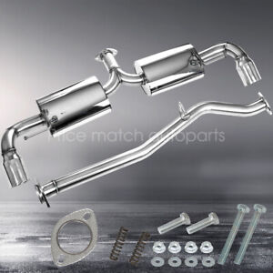 For 03 11 Mazda Rx8 Dual 3 5 Tip Muffler Stainless Steel Catback Exhaust System