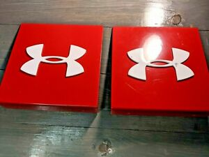 Pair Red White Under Armour Jacket Shoe Shirt Clothes Store Display Fixture